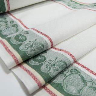 Полулен полотенечный Жаккард цв. зеленый, шир. 50