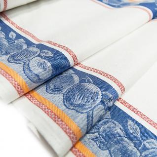 Полулен полотенечный Жаккард цв. синий, шир. 50