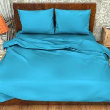 Ткань поплин гладкокрашеный импортный 115 гр. цв. Голубой 220 см