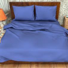 Ткань поплин гладкокрашеный импортный 115 гр. цв. Синий 220 см