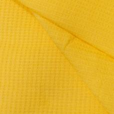Ткань вафельное полотно гладкокрашеное цв. жёлтый, 150 см