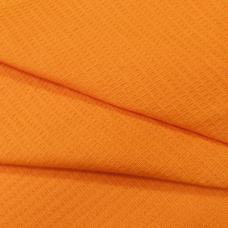 Ткань вафельное полотно гладкокрашеное цв. оранжевый, 150 см