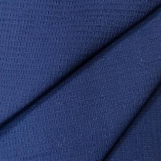Ткань вафельное полотно гладкокрашеное цв. тёмно-синий 150 см
