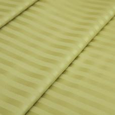 Ткань Страйп сатин полоса 1х1 см.  цвет фисташка 220 см, 135 гр/м2