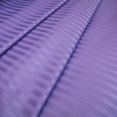 Ткань Страйп сатин полоса 1х1 см.  цвет сирень 220 см, 135 гр/м2
