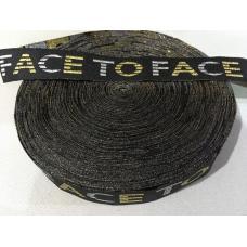 Тесьма (лампас) face to face. 3 см.