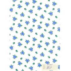 Бязь  б/з рис 180-1п голубые цветы