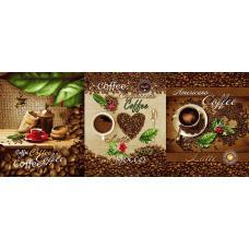 Ткань вафельное полотно Кофе 554-1