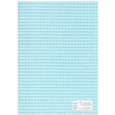 Ткань вафельное полотно голубое 15с169, клетка 7х7мм