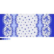 Ткань вафельное полотно 540-1П бз гжель