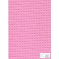 Ткань вафельное полотно розовое 15с169, клетка 7х7мм