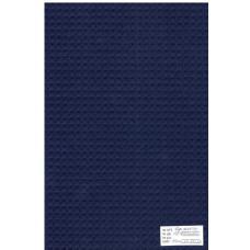 Ткань вафельное полотно синее 15с169, клетка 7х7мм