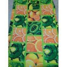 Ткань на отрез вафельное полотно набивное 45 см Цитрус